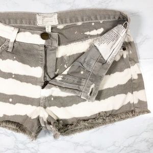 Current/Elliott Painted Stripe Boyfriend Shorts 27